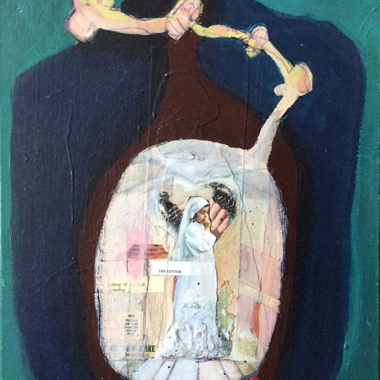 """The Letter (mixed media on canvas - 16"""" x 20"""")"""
