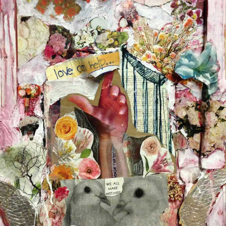 """In Memory of Brooke (mixed media on canvas - 16"""" x 20"""")"""